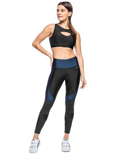 LEGGING DRY AIR VERDE METALICO/PRETO