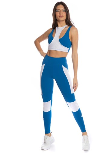 LEGGING REFLECTIVE AZUL GEL